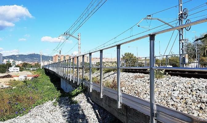 Alsina SIP realiza actuación en la estación de Rodalies Renfe en Bellvitge (Hospitalet del Llobregat)